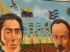 0018 Pinturas de Martí, Bolívar y Chávez, donadas a la Casa Museo Simón Bolívar.