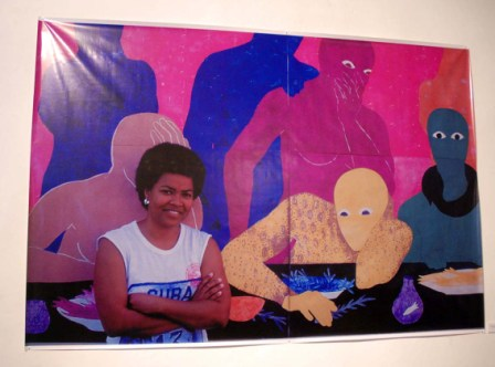 The late Cuban artist Belkis Ayon.  Photo: Caridad