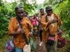 taw_1 Alfredo Duquesne, Yandrys Izquierdo and Humberto Casanova dancing on their way to their welcome to Banta Mokele, the Upper Banta Chiefdom headquarters.