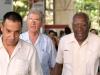 0024 Alfredo Machado López, presidente de la  ANIR---- (izquierda)  Pedro Abreu (Director de Expo Cuba)---- en el centro Salvador Valdés Mesa    Secretario General de la Central de Trabajadores de Cuba (CTC )---- Derecha