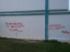 Graffiti at an elementary school in Alamar