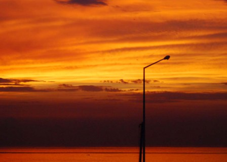 Sunset on Havana's Malecon seawall.  Photo: Caridad