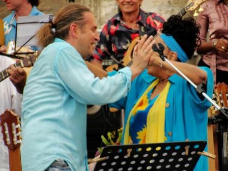 Leonid Agustin and Omara Portuondo