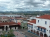 View of Santiago de Cuba with Parque Cespedes in the foreground.