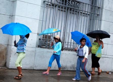 Dia de lluvia en La Habana.  Foto: Caridad