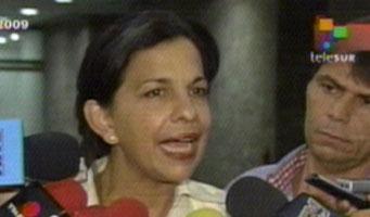 Honduran Foreign Minister Patricia Rodas, photo: TeleSur