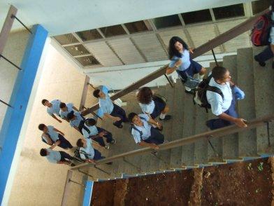 Students at Lenin High School.