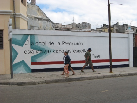 Fidel: The moral of the revolution is as high as the stars.  Photo: Derek Blackadder