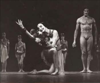 Alicia Alonso junto el gran bailarín Jorge Esquivel