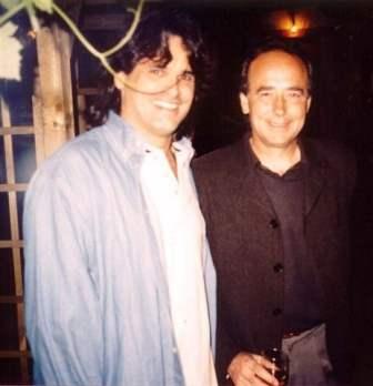 Augusto con Juan Manuel Serrat