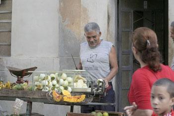 Vendedor de la calle.