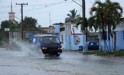 Lluvia en Pinar del Rio