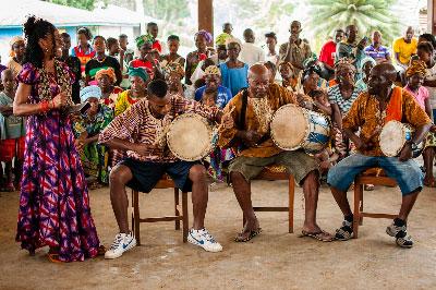 The Gangá Longoba in Banta Mokele, the main village of the Upper Banta chiefdom.