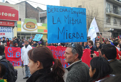 Protest for free, quality education in Chile.