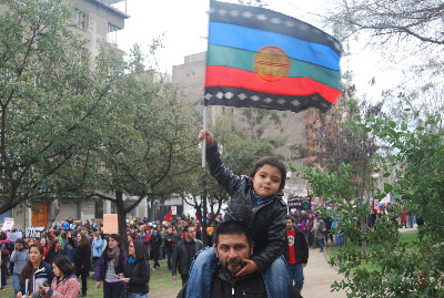 Protest in Chile for free, quality education.