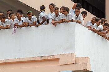 Cuban junior high school students.