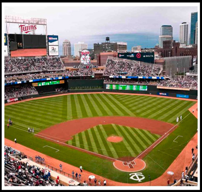 The home of the Minnesota Twins.