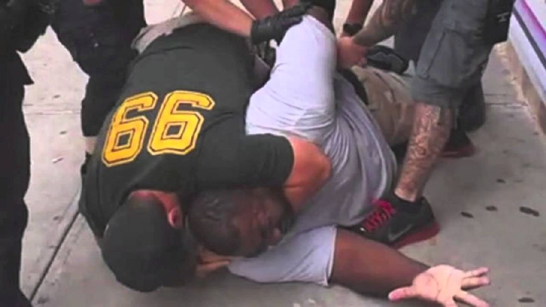 Eric Garner being killed.  Photo: thefederalist.com