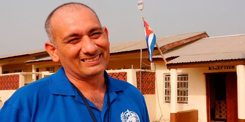 Dr. Felix Baez was the one doctor who contracted Ebola, survived and returned to Sierra Leone to continue working.