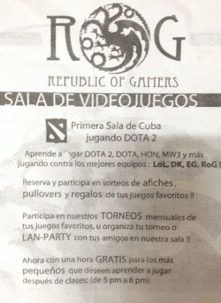 Imagen en Internet de algunos gamers cubanos.